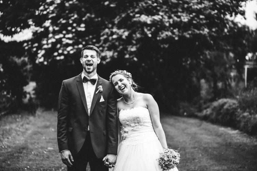 Schwarz-Weiß Hochzeit