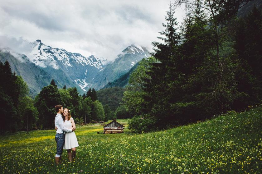 Hochzeit nur zu zweit in den Bergen